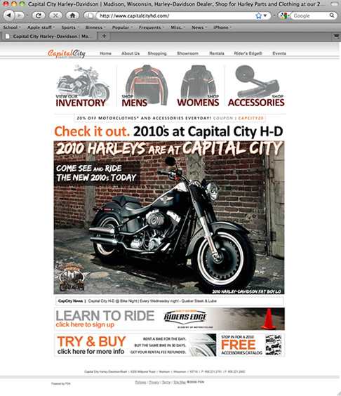 Capital City Harley-Davidson Home Page