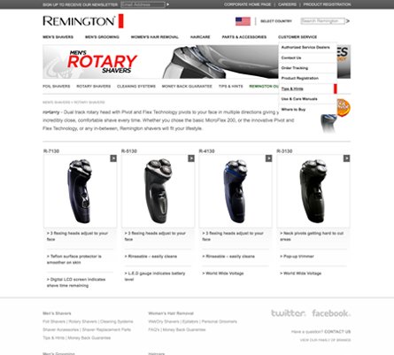 Remington Sub Pages