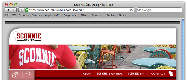 Sconnie Site Design by Neos